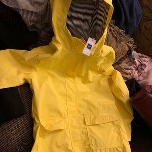 Gap Raincoat in yellow
